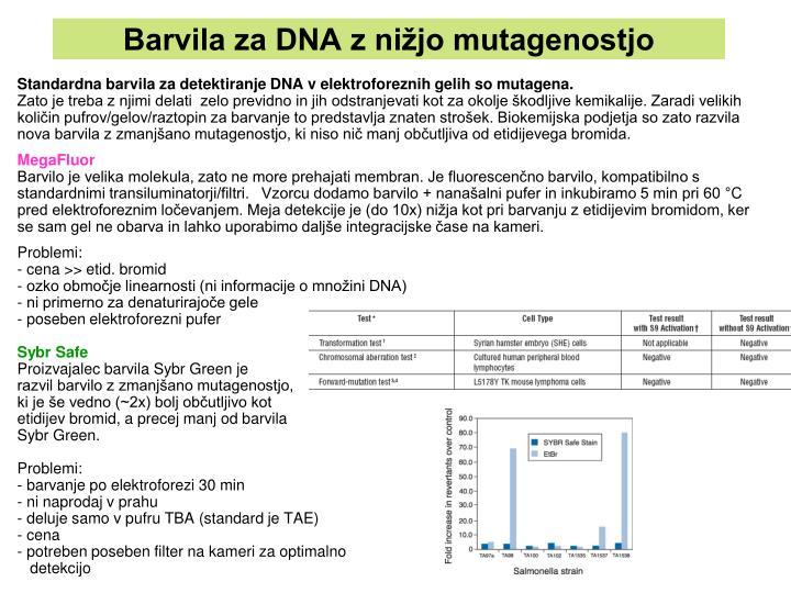 Barvila za DNA z nižjo mutagenostjo