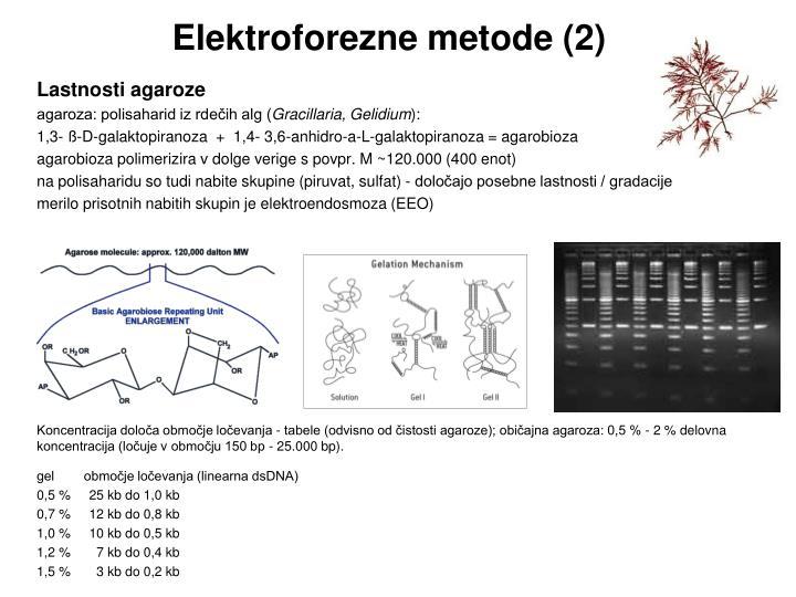 Elektroforezne metode (2)