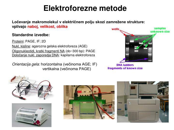 Elektroforezne metode