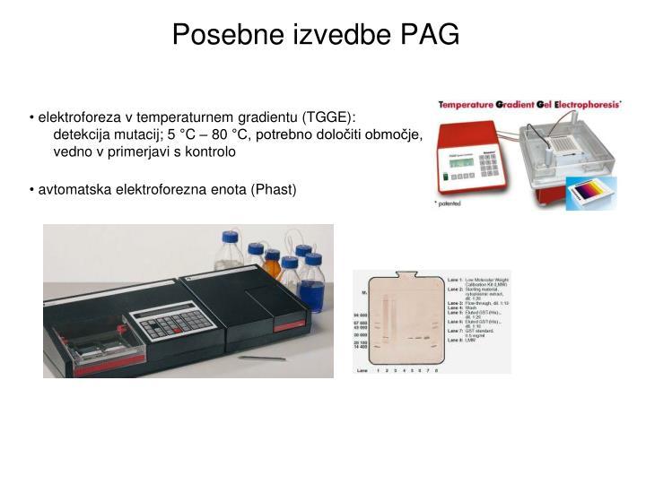 Posebne izvedbe PAG