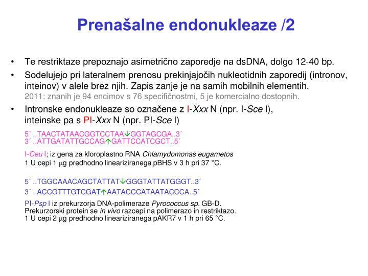 Prenašalne endonukleaze