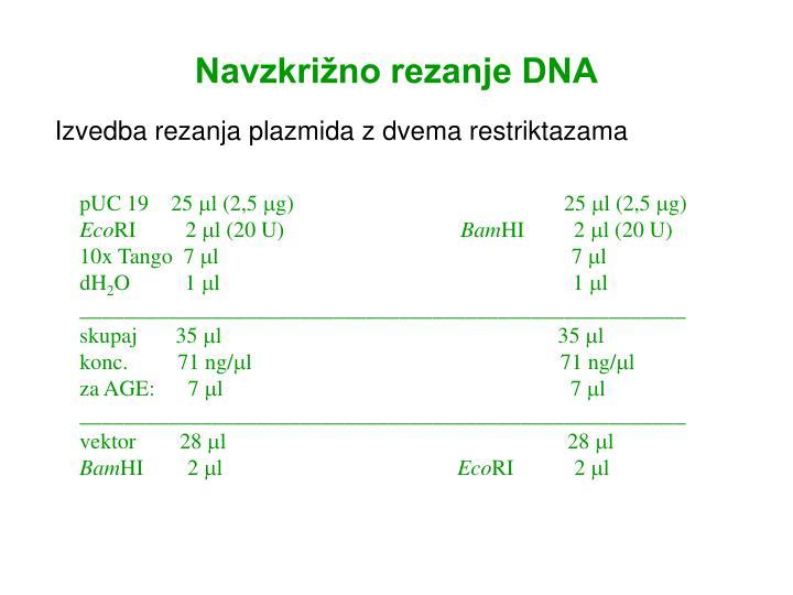 Navzkrižno rezanje DNA