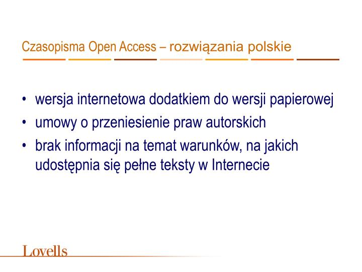 Czasopisma Open Access –