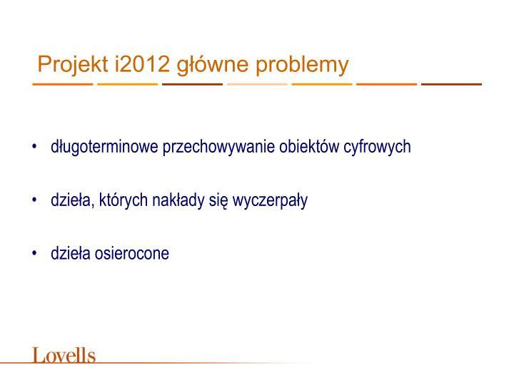 Projekt i2012 główne problemy