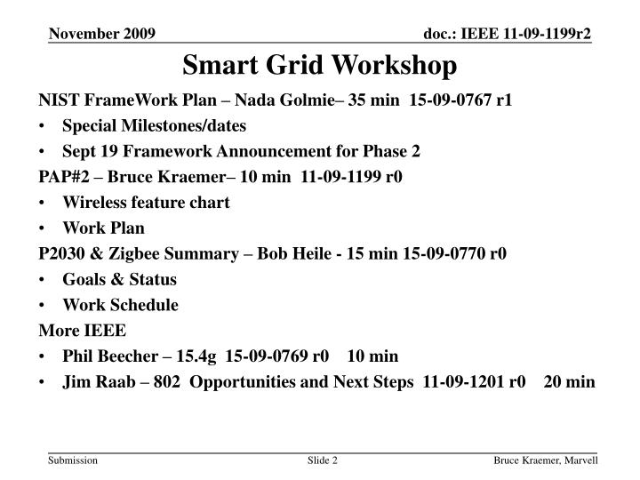 Smart grid workshop