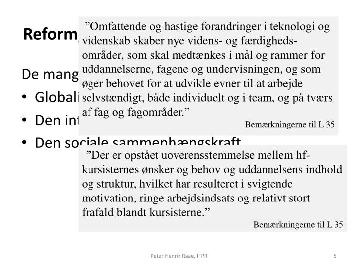 Reform, magt og interesser