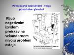 povezovanje specialnosti vloga posrednika glavobol