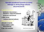 uporaba posebnosti posveta za razvoj dobrega in u inkovitega odnosa zdravnik bolnik