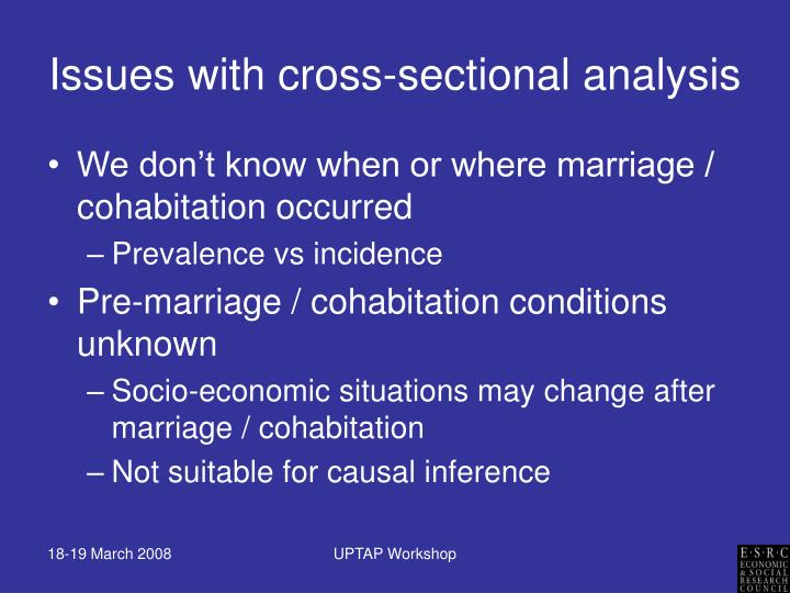 Issues with cross-sectional analysis