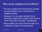why study neighbourhood effects1