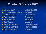 charter officers 1992