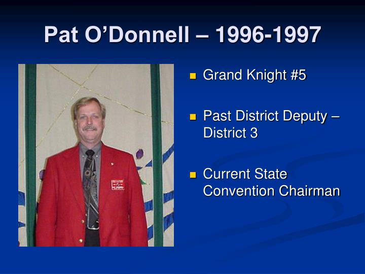 Pat O'Donnell – 1996-1997