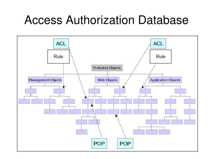 Access Authorization Database
