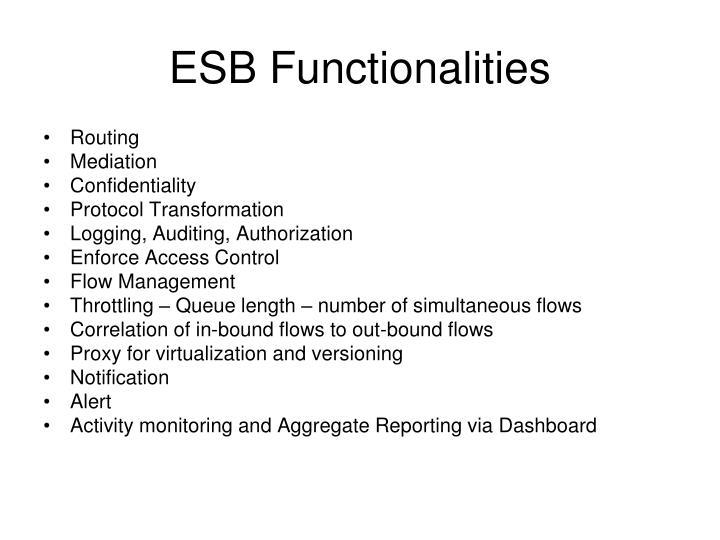 ESB Functionalities