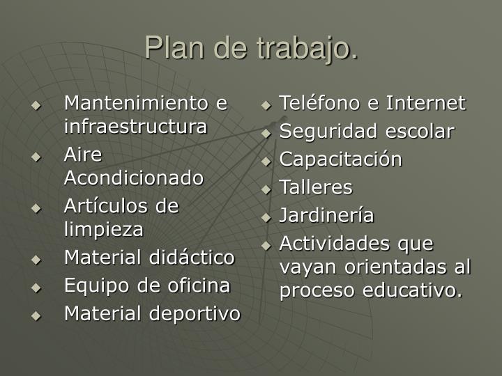 Mantenimiento e infraestructura