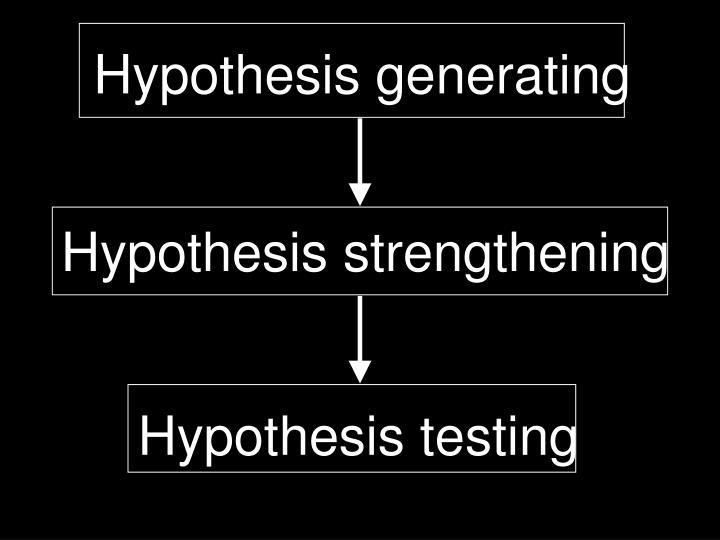 Hypothesis generating