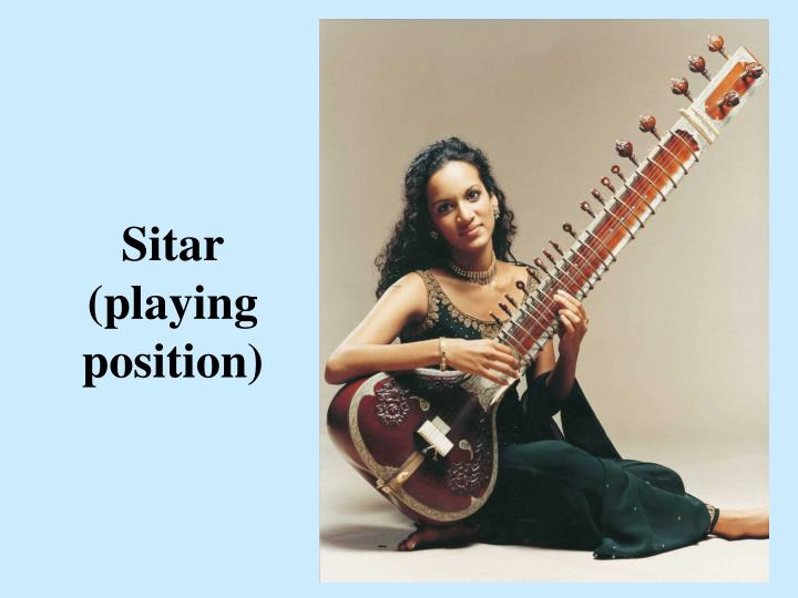 Sitar (playing position)