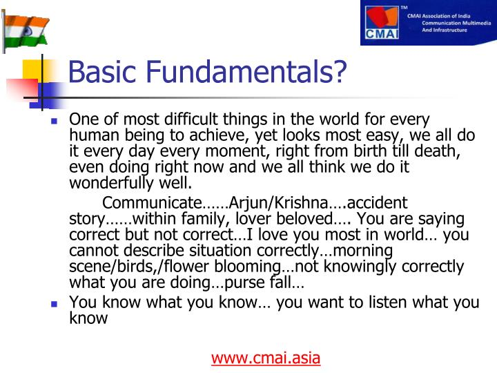 Basic Fundamentals?