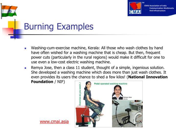 Burning Examples