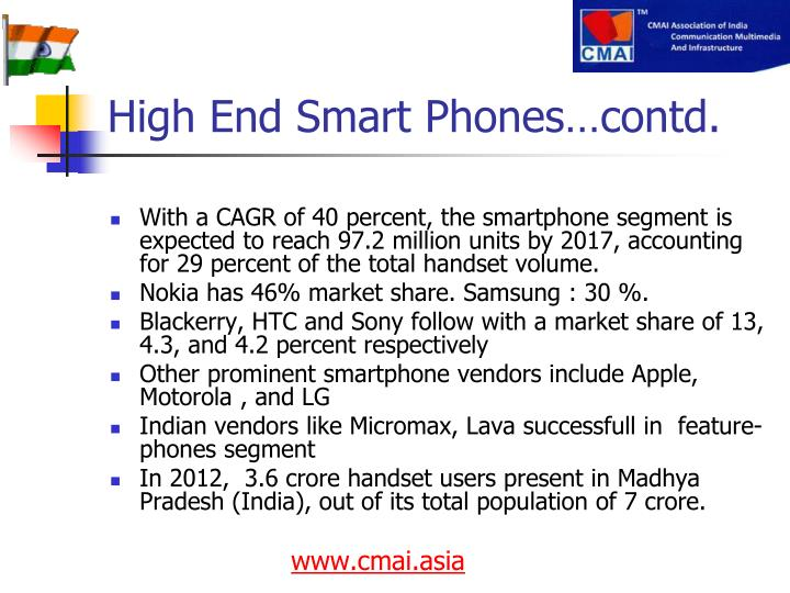 High End Smart Phones…contd.