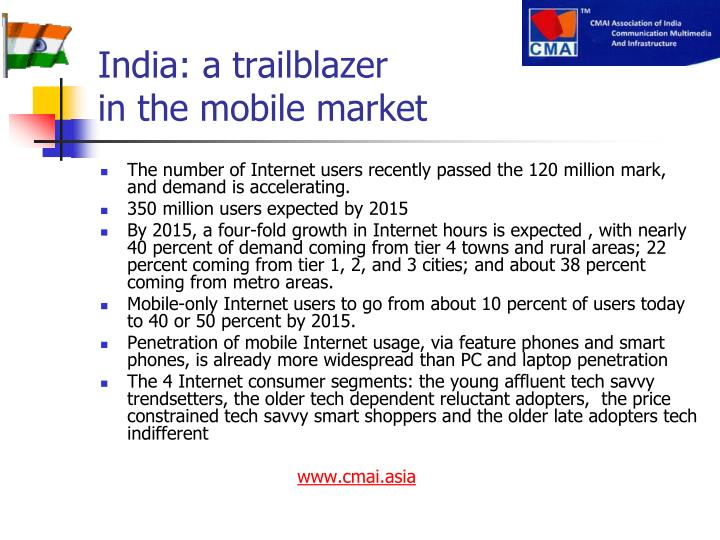India: a trailblazer