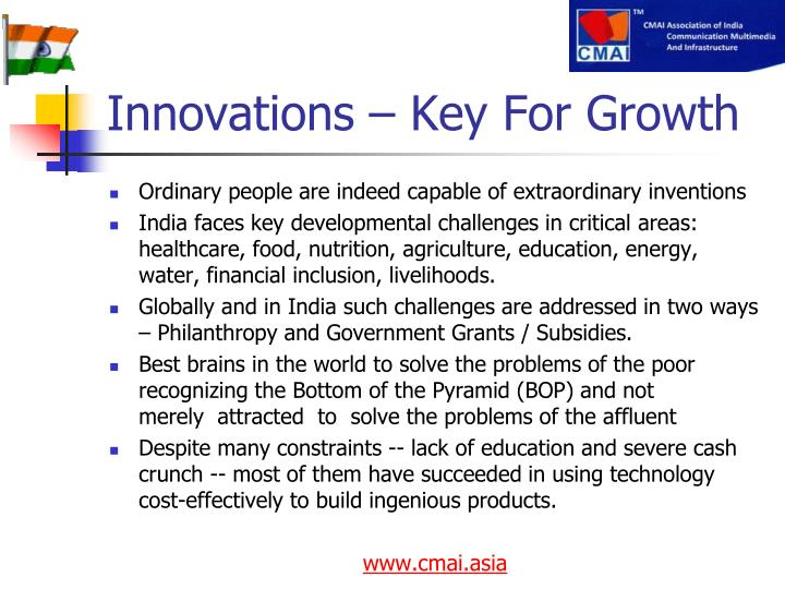 Innovations – Key For Growth