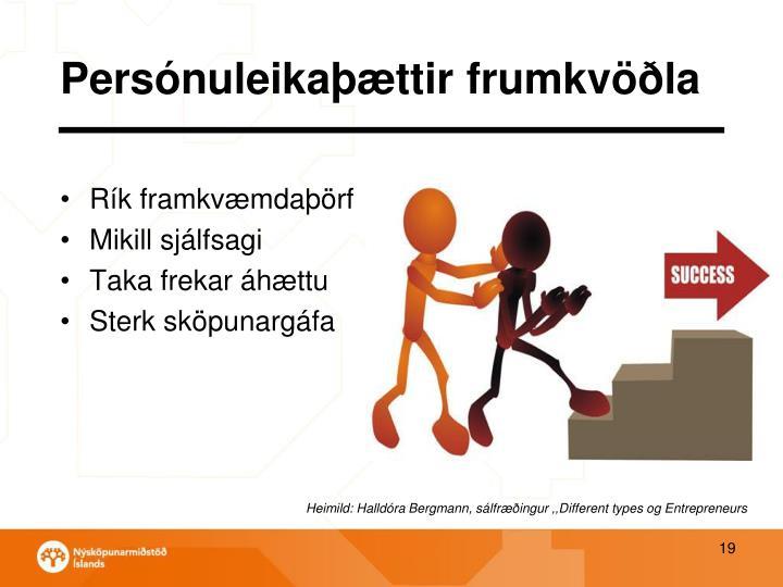 Persónuleikaþættir frumkvöðla