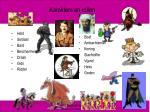 karakters en rollen