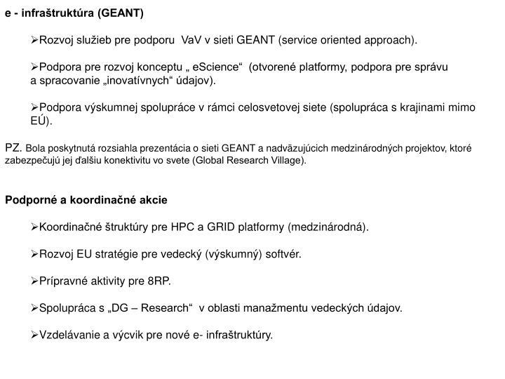 e - infraštruktúra (GEANT)