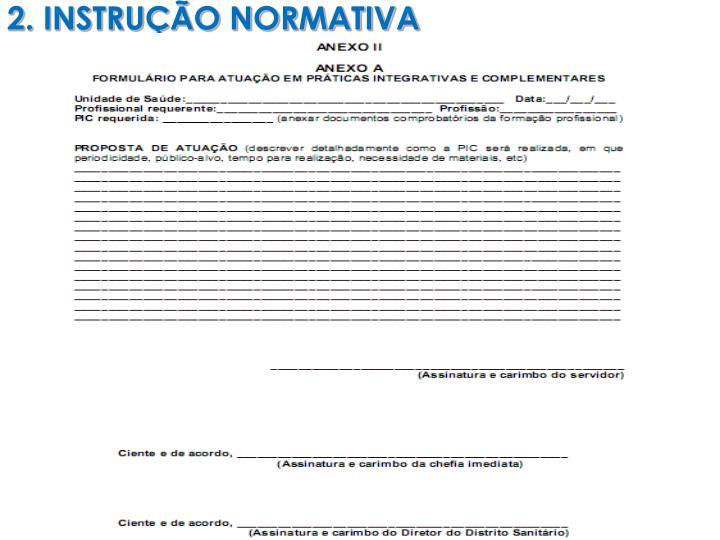 2. INSTRUÇÃO NORMATIVA