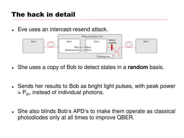 The hack in detail