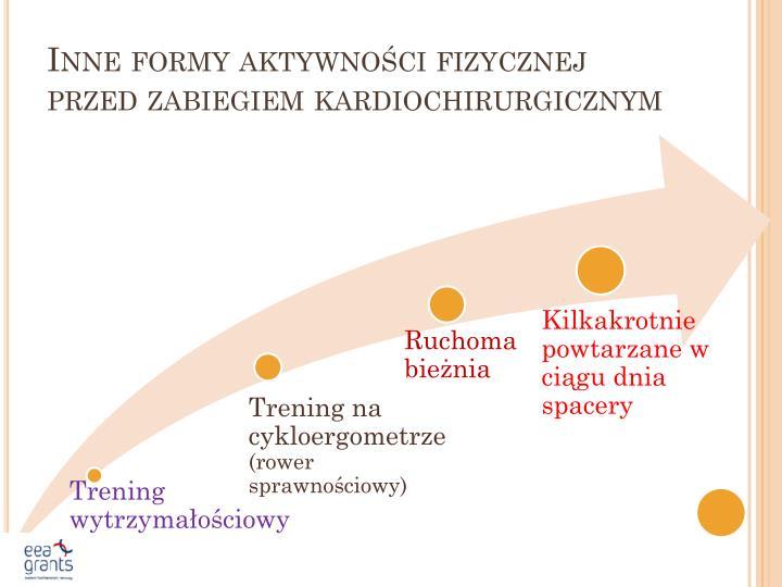 Inne formy aktywności fizycznej przed zabiegiem kardiochirurgicznym