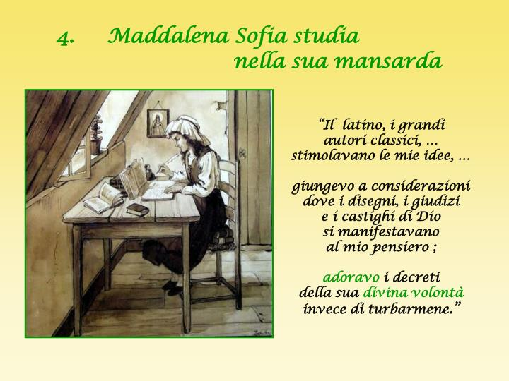 4.     Maddalena Sofia studia