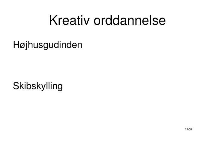 Kreativ orddannelse