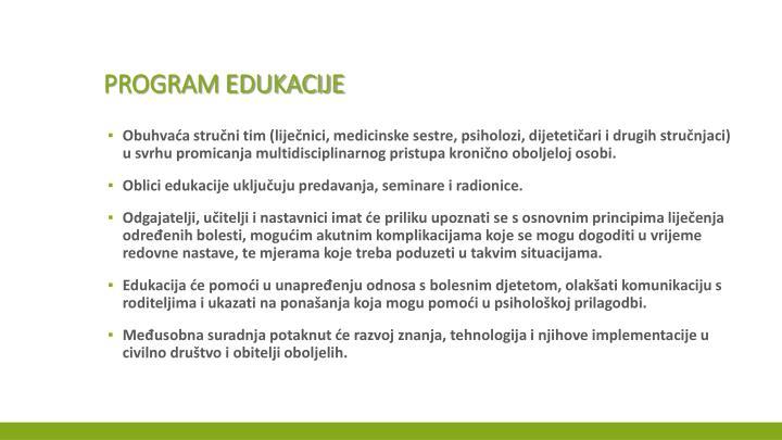 Program edukacije