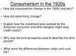 consumerism in the 1920s