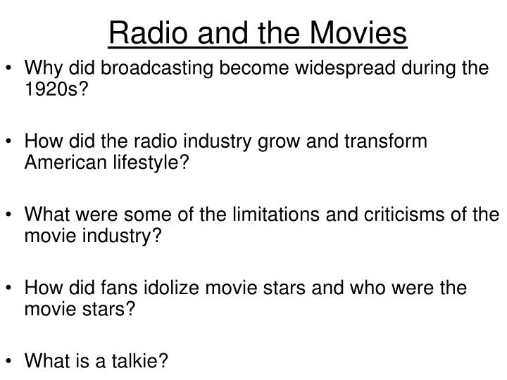 Radio and the Movies