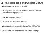sports leisure time and american culture