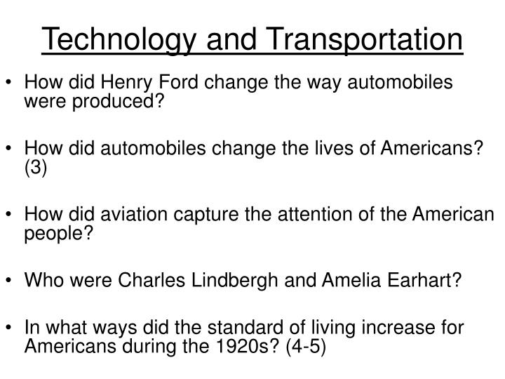 Technology and Transportation