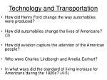 technology and transportation