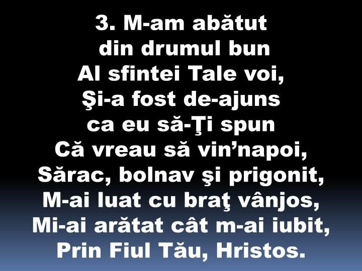 3. M-am abătut