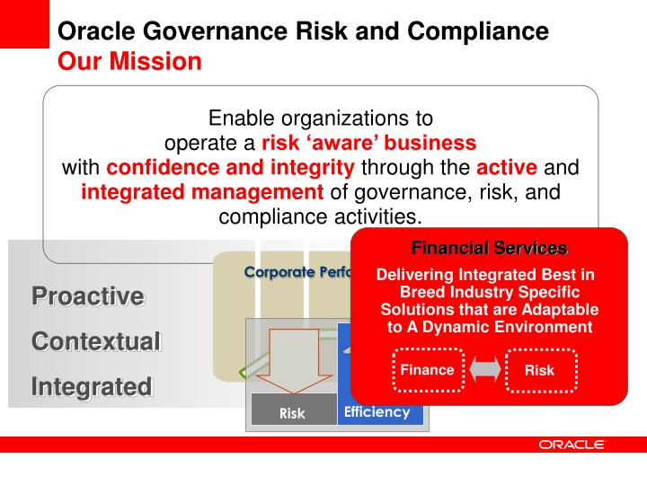 Oracle governance risk and compliance our mission