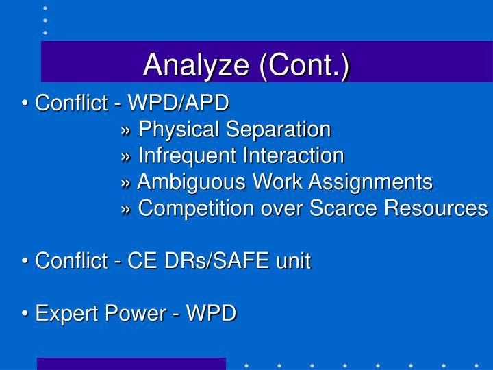 Analyze (Cont.)