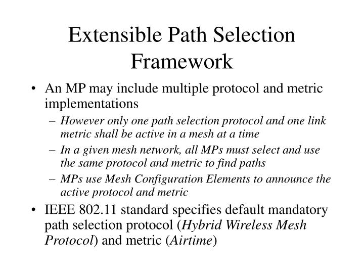 Extensible Path Selection Framework