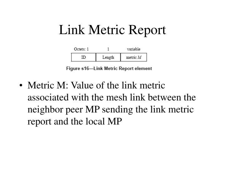 Link Metric Report