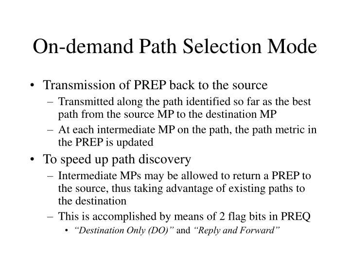 On-demand Path Selection Mode