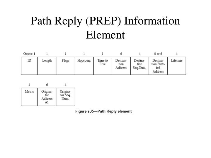 Path Reply (PREP) Information Element