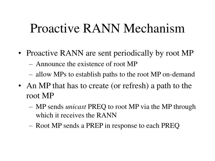 Proactive RANN Mechanism