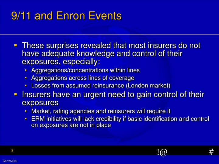 9/11 and Enron Events
