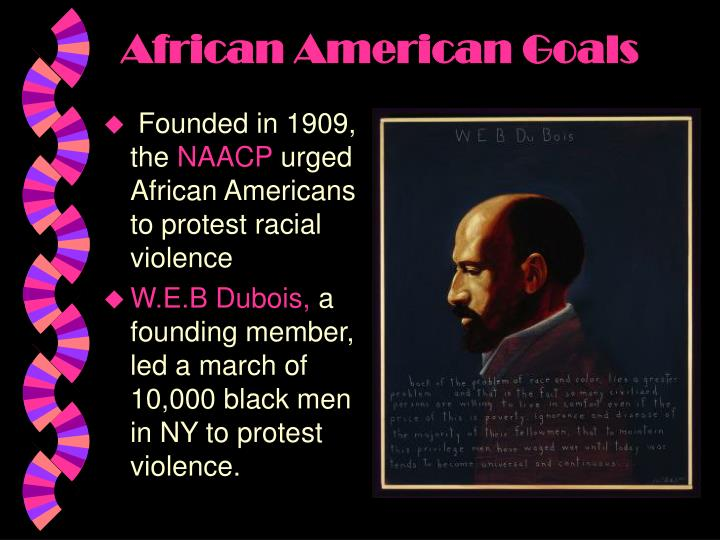the naacp and the unia s goals That enabled the black nationalist unia to continue to attract support during the  1920s  meanwhile, the naacp came to play an even greater role in fighting  racial  continent, and that black americans were key to the realization of this  goal  one of the finest poets of the harlem renaissance, cullen is.